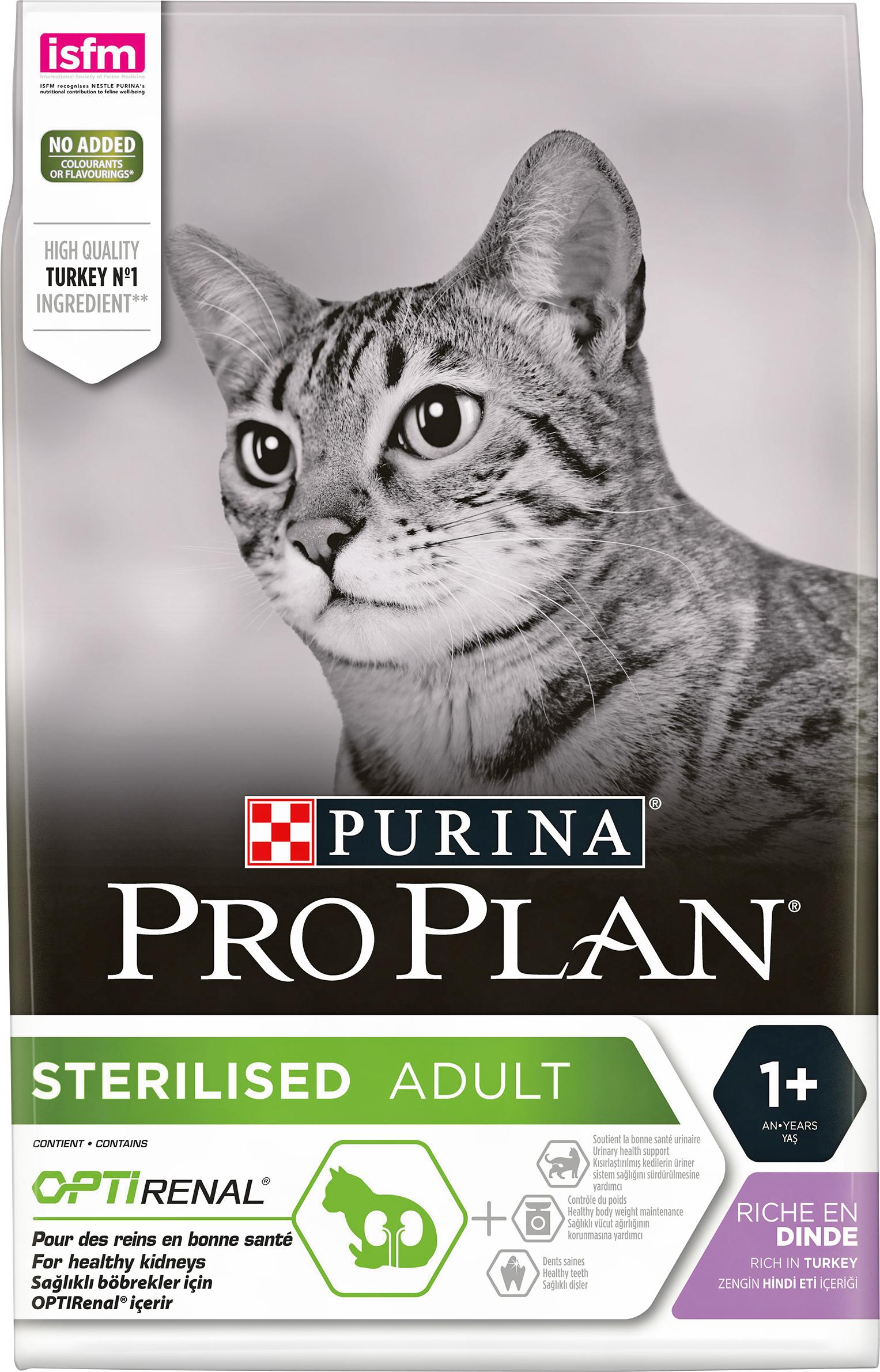 Kattmat Purina Pro Plan Sterilised Turkey, 3 kg