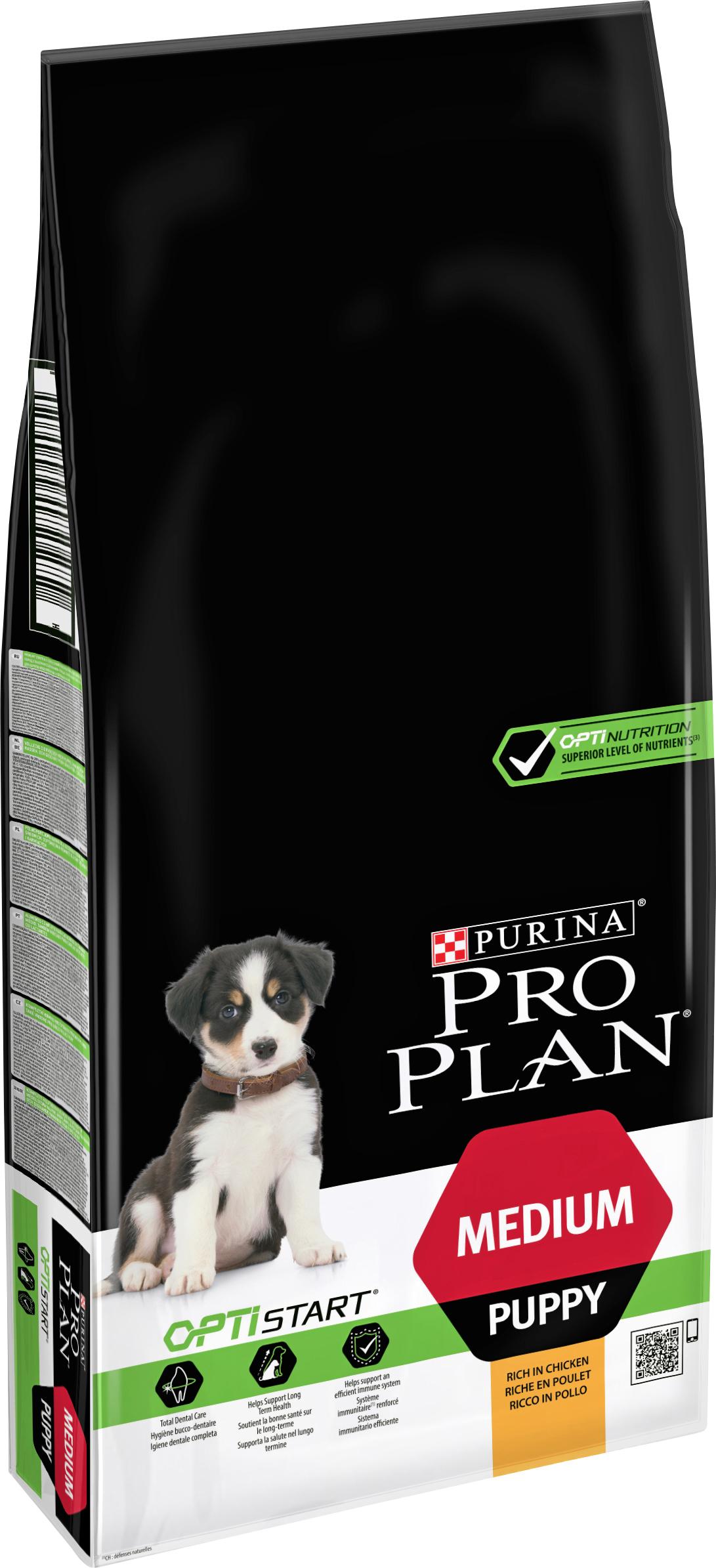 Hundfoder Pro Plan Medium Puppy Kyckling, 12 kg