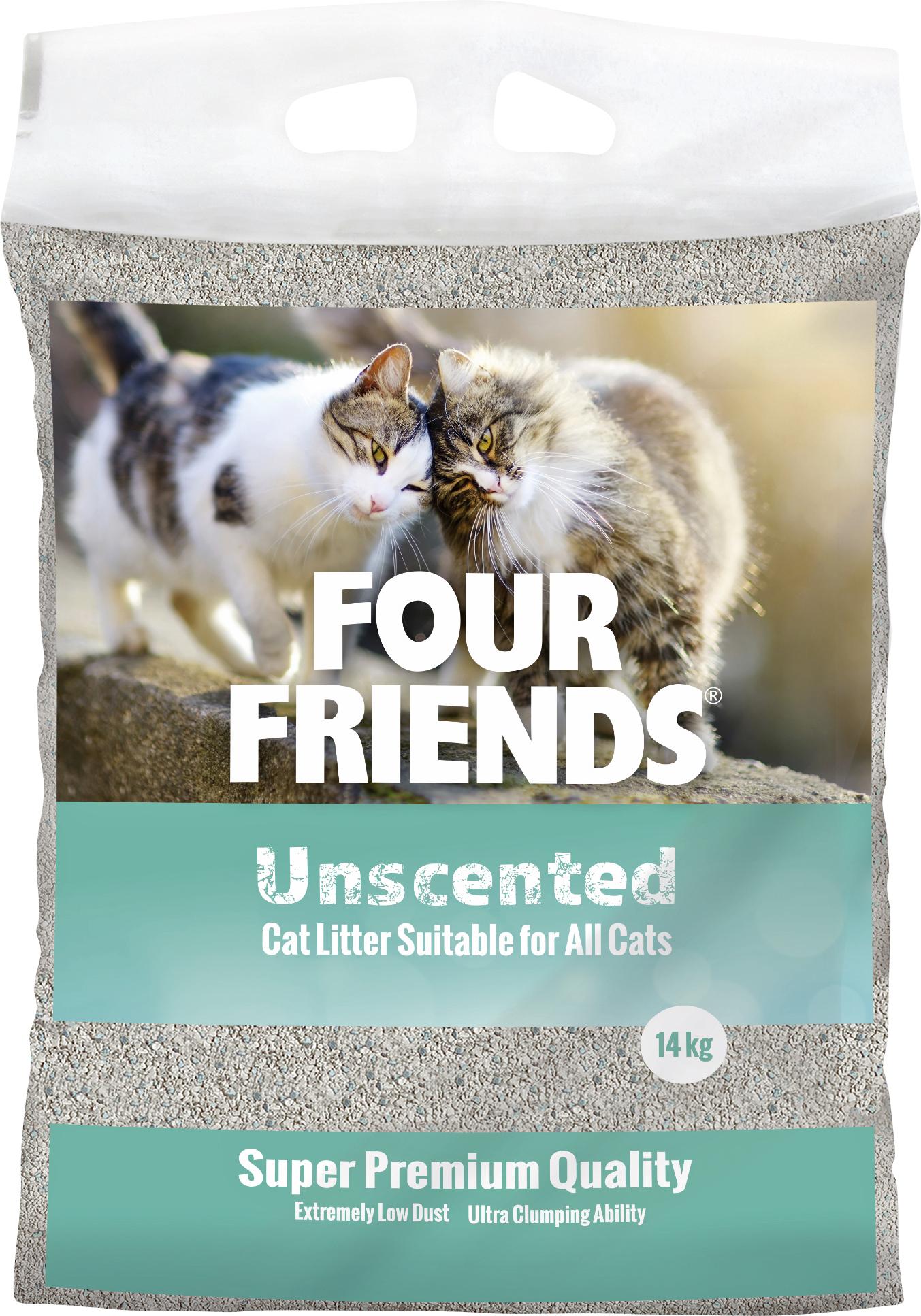 Kattsand Four Friends Unscented, 14 kg