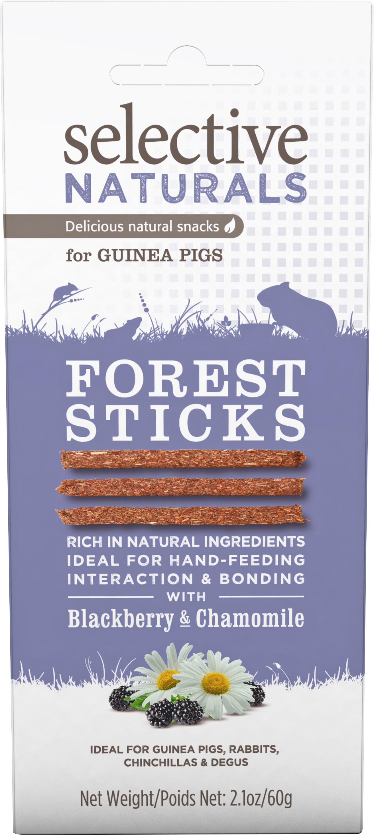 Gnagargodis Selective Naturals Garden Sticks Björnbär och Kamomill, 60 g