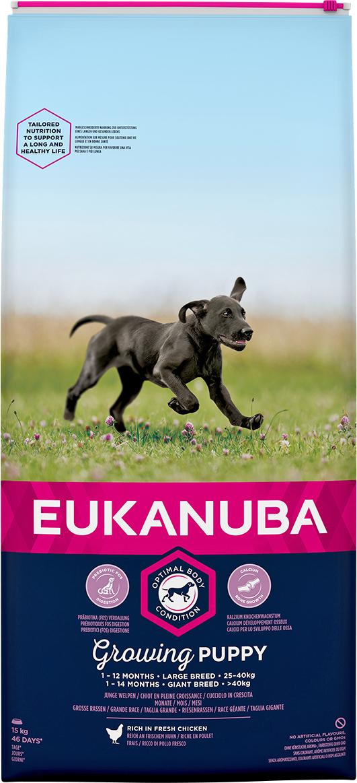 Hundfoder Eukanuba Puppy Large, 15 kg
