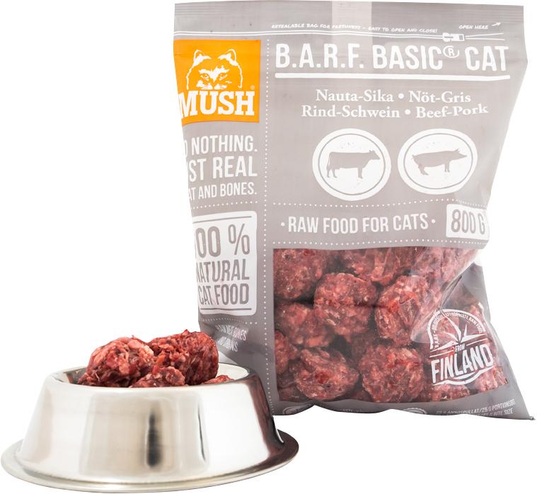 Kattmat Mush Basic Cat Nöt-gris, 0,8 kg