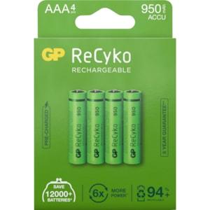 Batteri GP ReCyko 950 Laddningsbart AAA, 4-pack