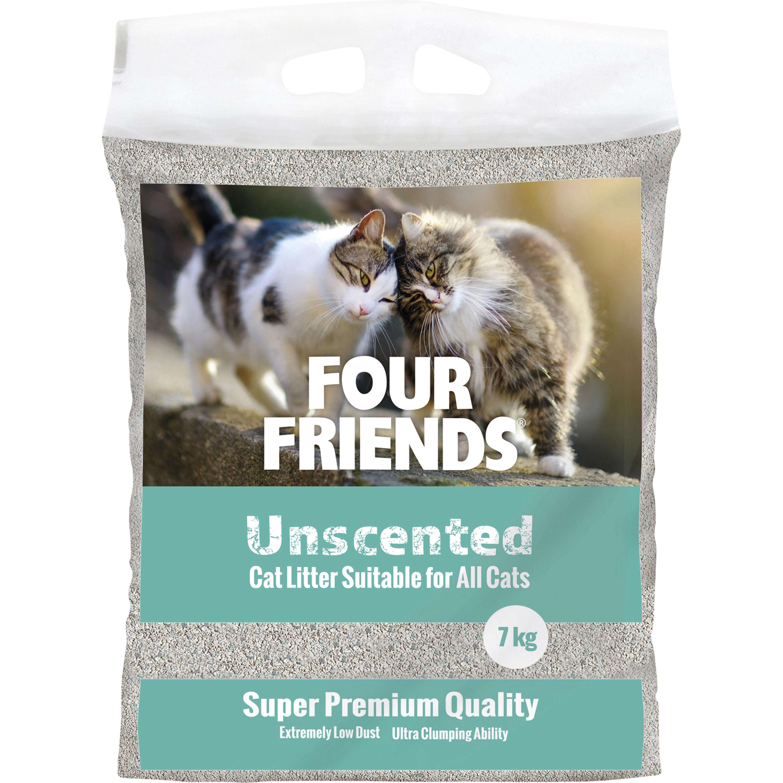 Kattsand Four Friends Unscented, 7 kg