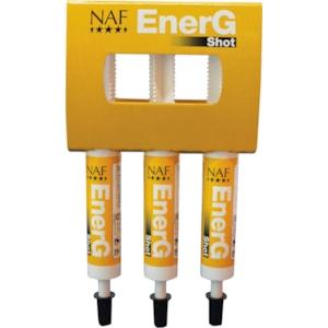 Fodertillskott NAF EnerG Shot, 3-pack
