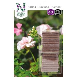 Näringspinnar Nelson Garden, 40-pack