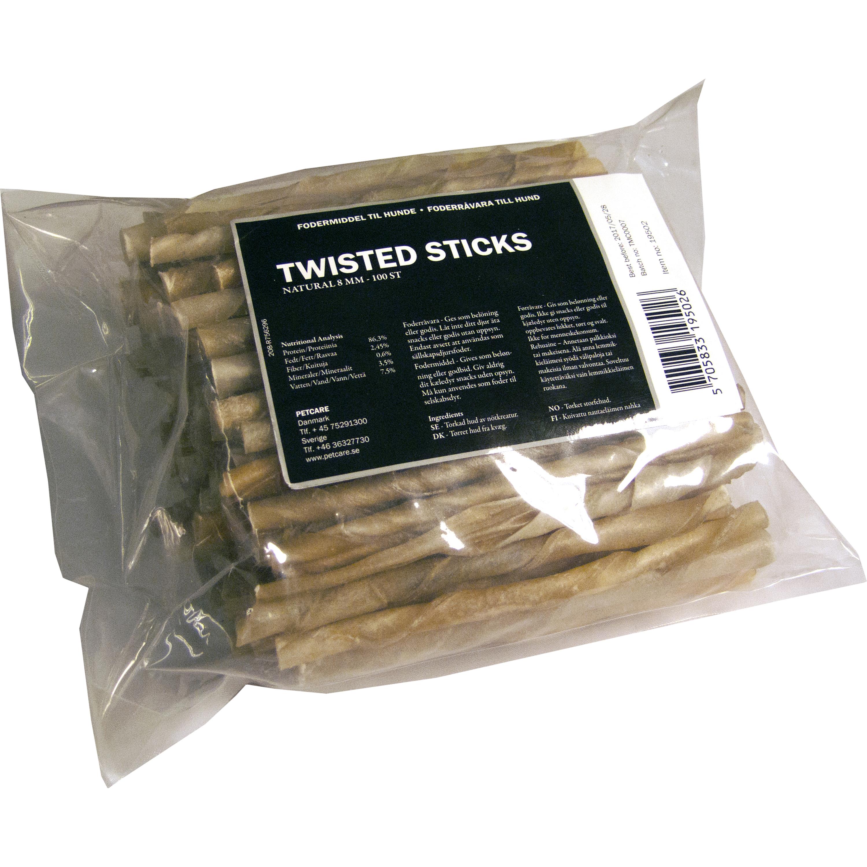 Hundtugg Treateaters Twisted Sticks Natural 8 mm, 100-pack