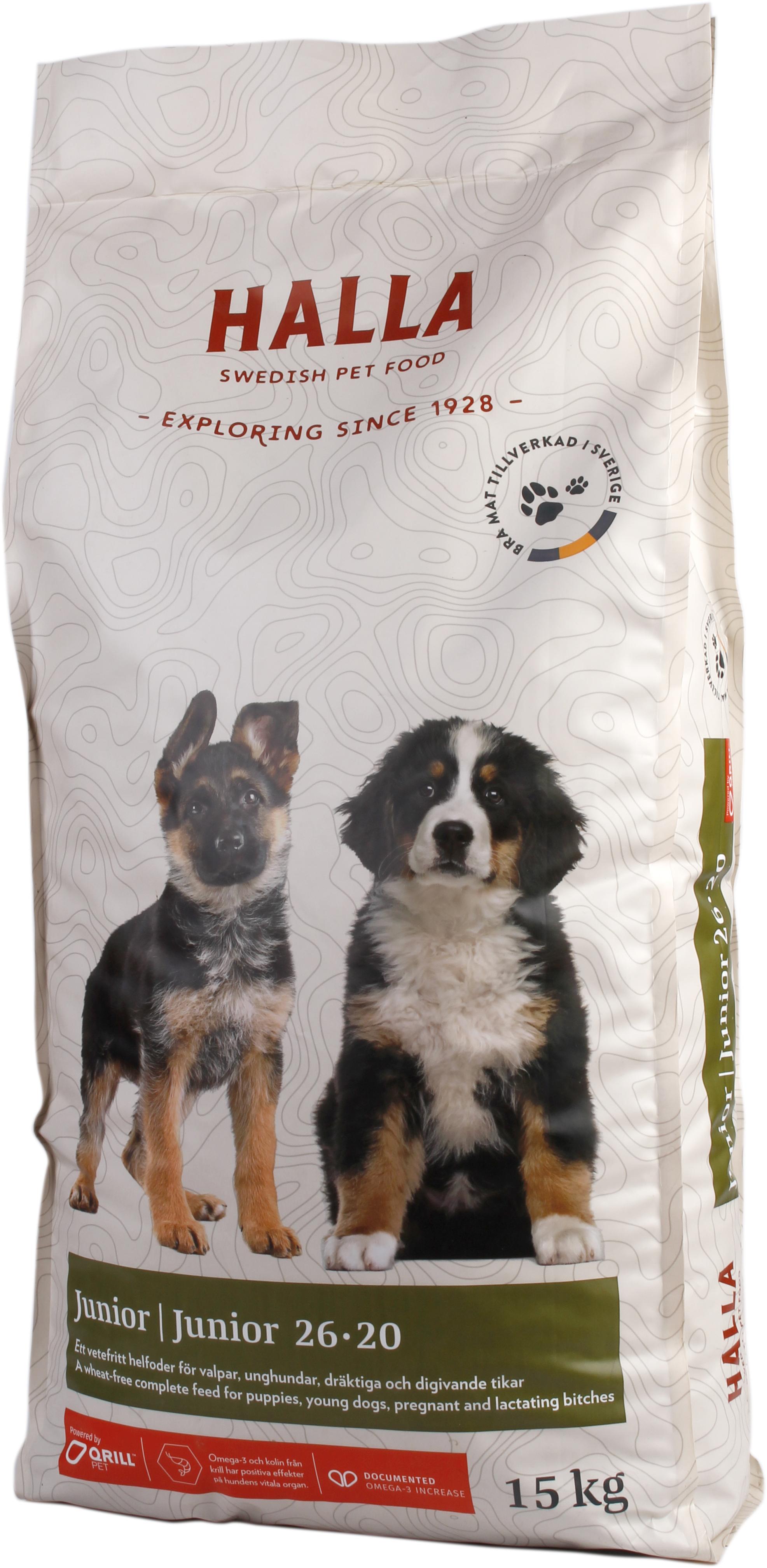 Hundfoder Halla Junior, 15 kg