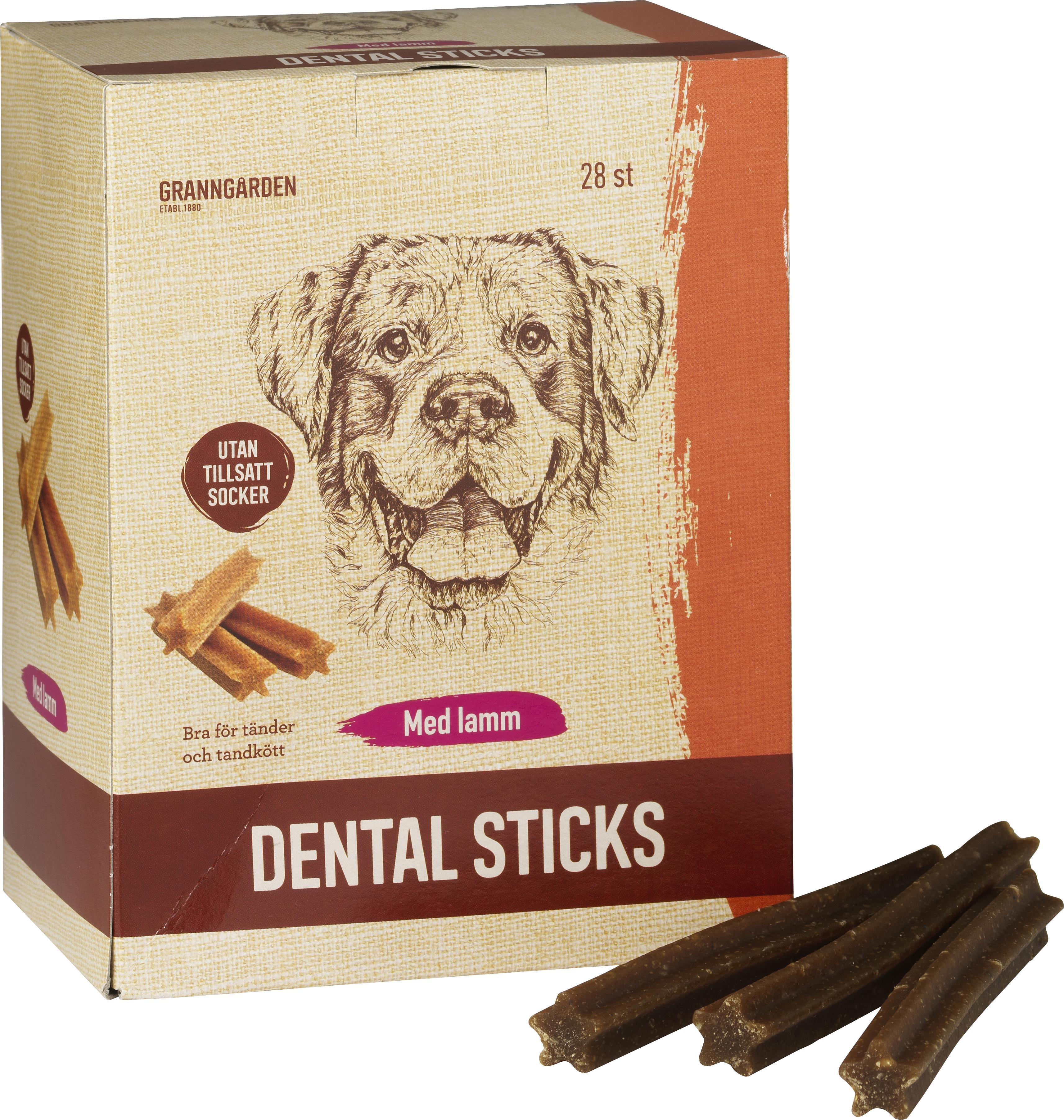 Hundtugg Granngården Dental Sticks Lamm M, 28-pack