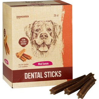 Hundtugg Granngården Dental Sticks Lamm M, 28-pack