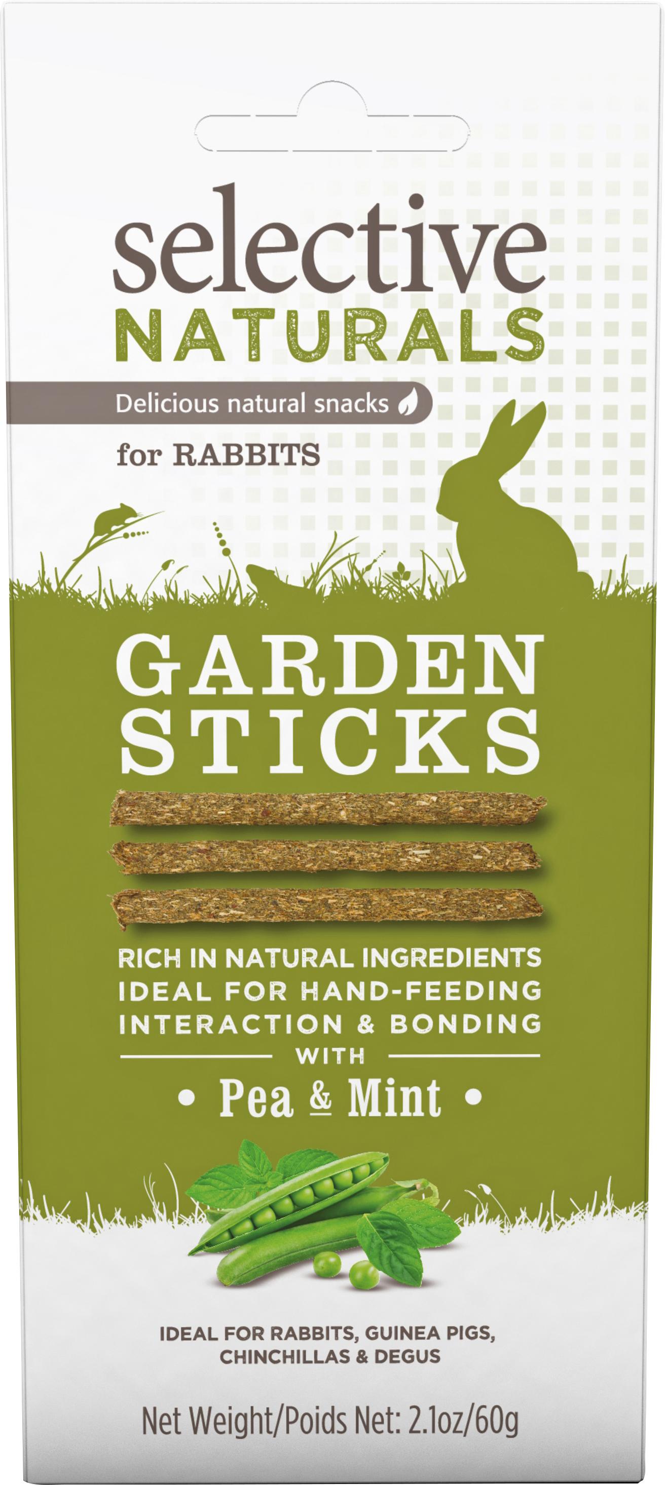 Gnagargodis Selective Naturals Garden Sticks Ärtor och Mynta, 60 g