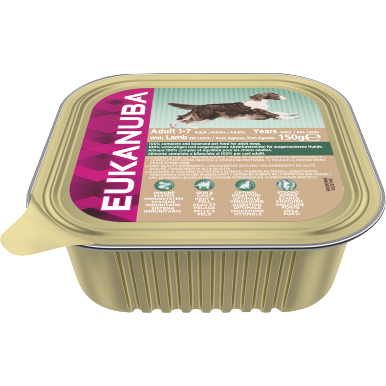 Hundfoder Eukanuba Adult Lamb, 150 g