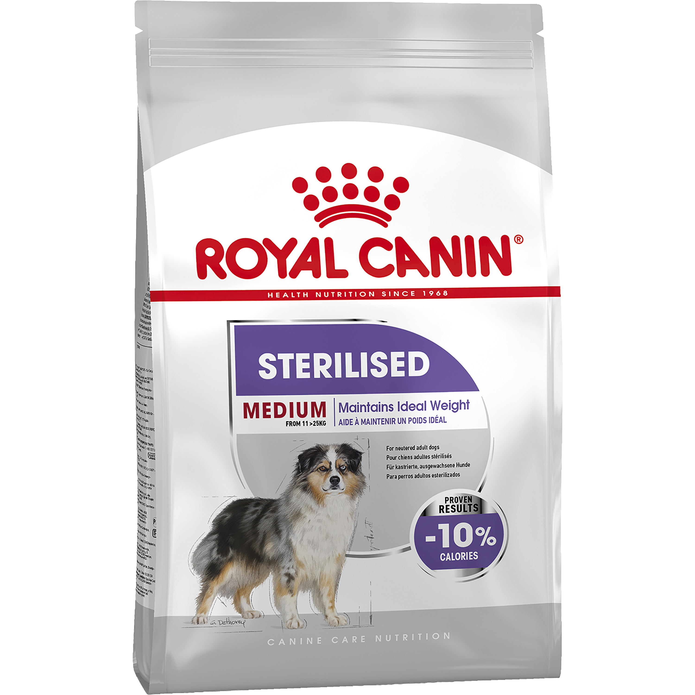 Hundfoder Royal Canin Medium Sterilised Adult, 10 kg