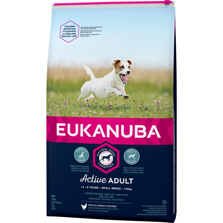 Hundfoder Eukanuba Active Adult Small, 12 kg