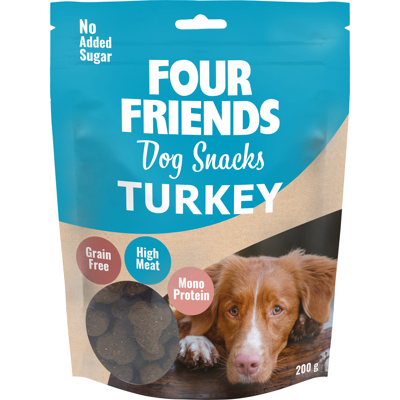 Hundgodis Four Friends Dog Snacks Turkey, 200 g