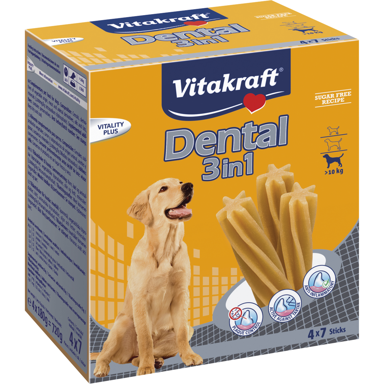 Hundtugg Vitakraft Dental 3in1 Multi >10 kg