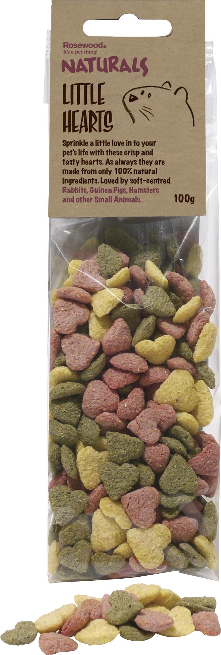 Gnagargodis Rosewood Små hjärtan, 100 g