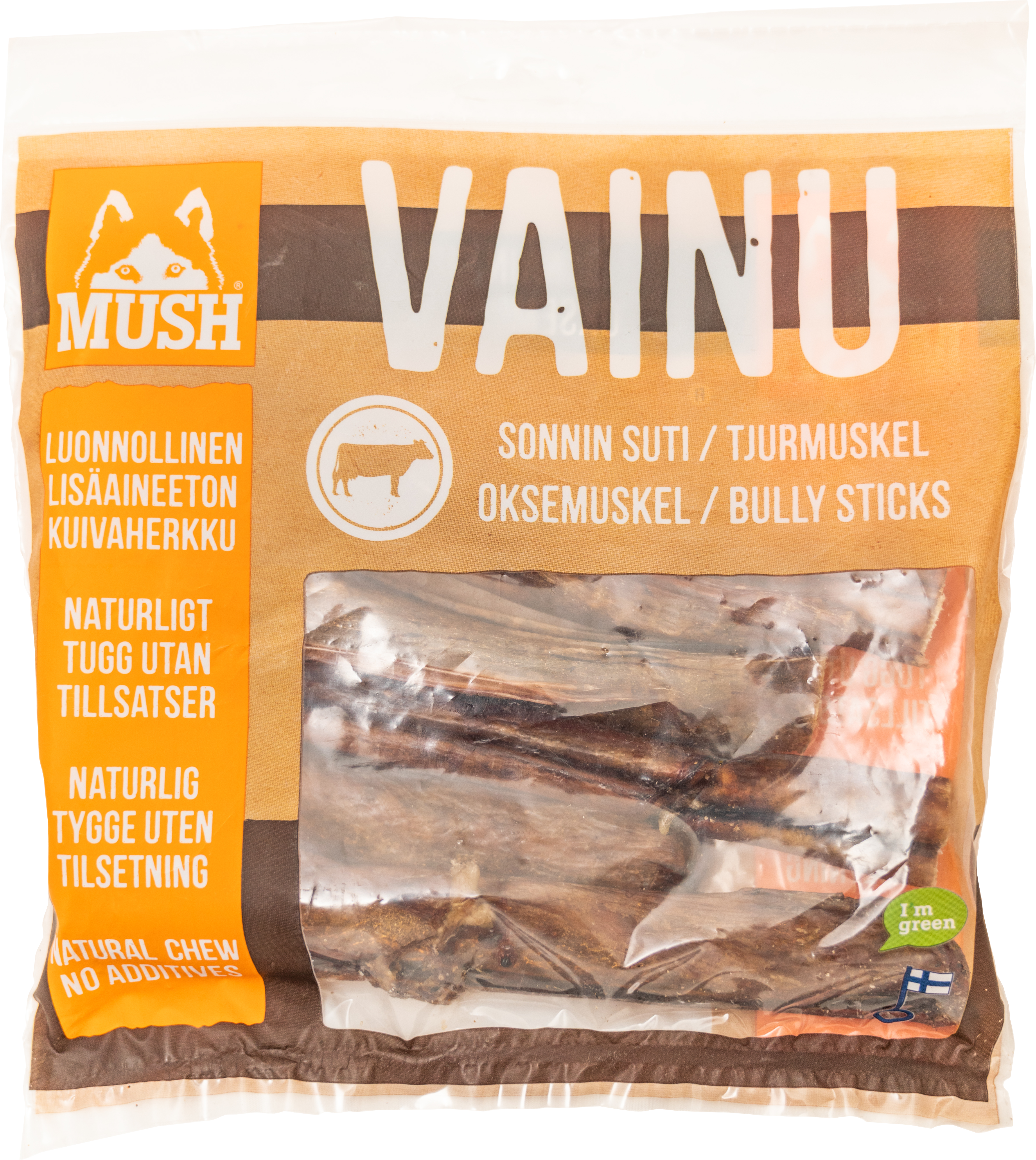 Hundtugg Mush Vainu Tjurmuskel, 250 g