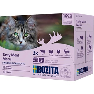 Kattmat Bozita Feline Menybox Kött, 12x85 g