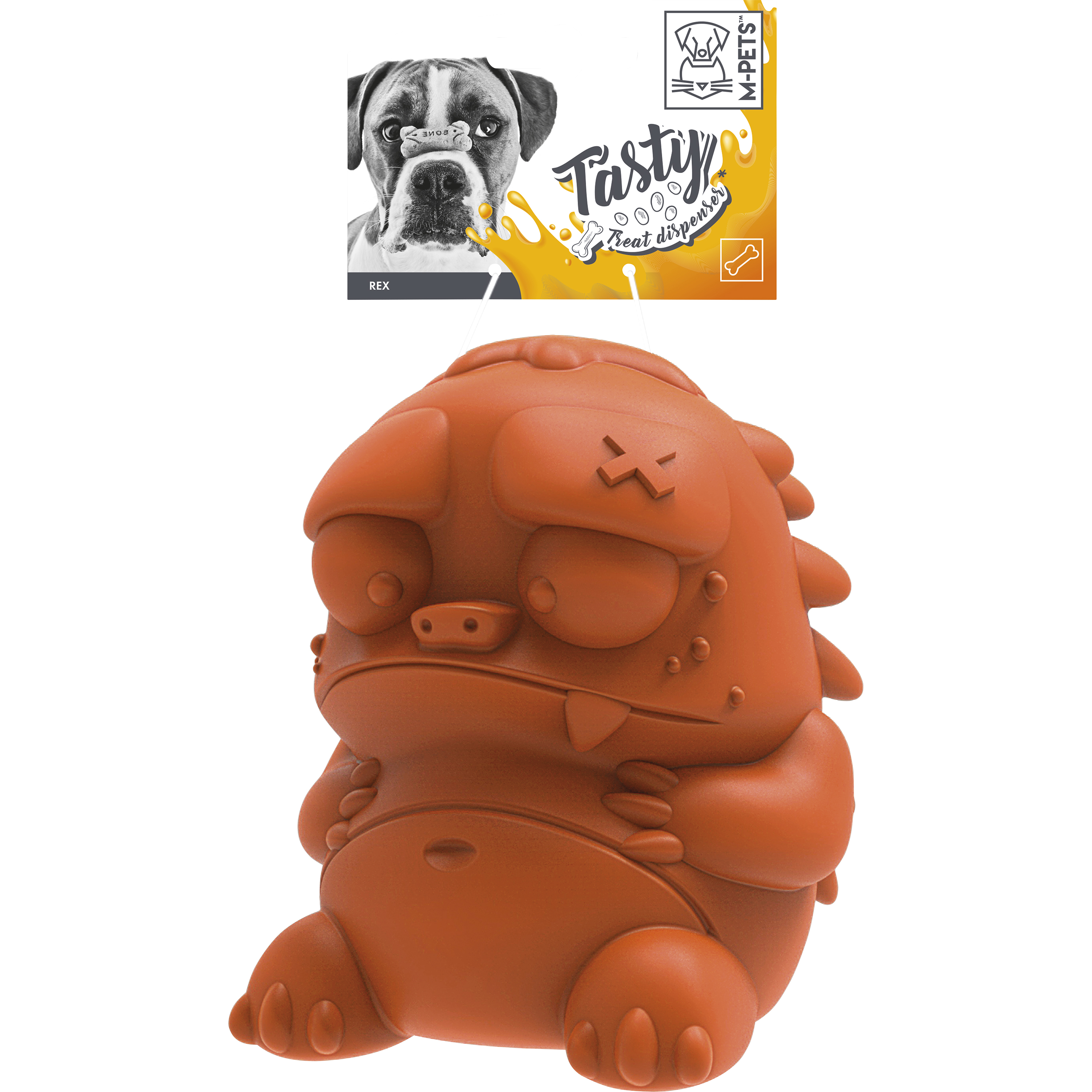 Hundleksak M-Pets Tasty Rex, Orange