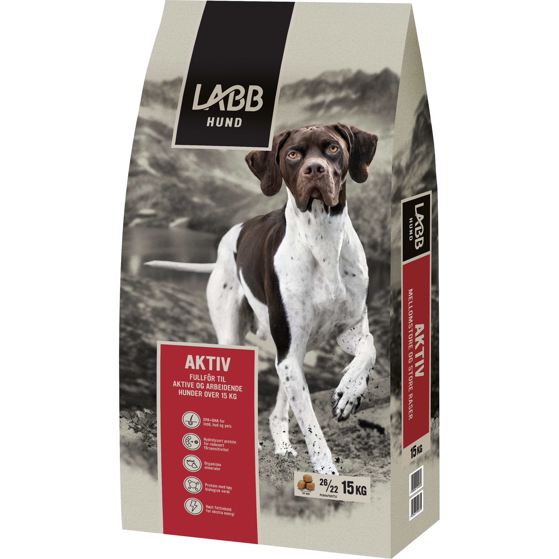 Hundfoder Labb Aktiv, 15 kg