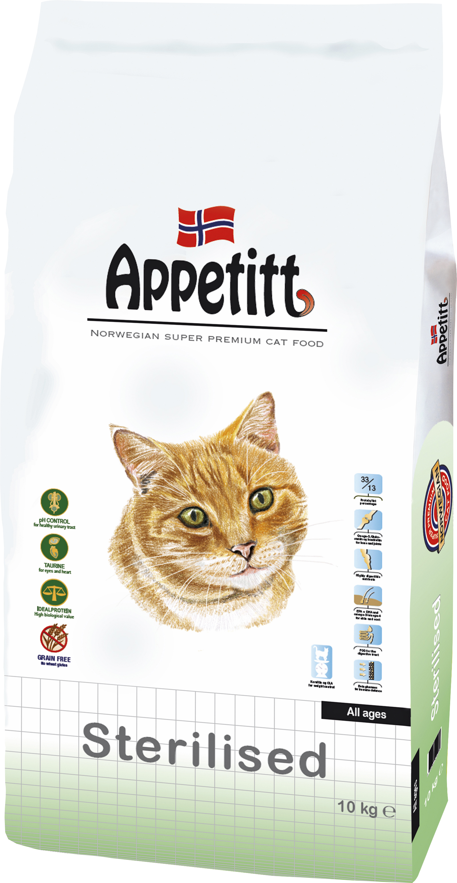 Kattmat Appetitt Adult Sterilised, 10 kg