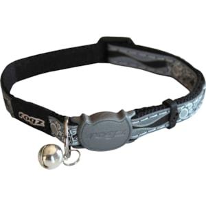Reflexhalsband Rogz Nightcat Svart XS 16,5-23 cm