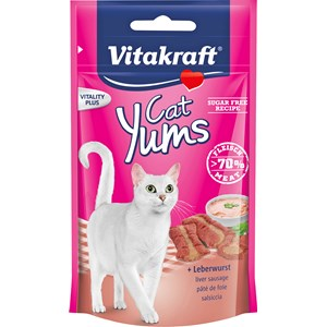Kattgodis Vitakraft Cat Yums Leverkorv, 40 g