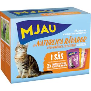 Kattmat Mjau Menybox Kött i sås, 12 x 85 g