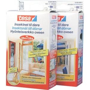 Insektsnät till fönster Tesa, Svart 2200 x 650 mm, 2-pack