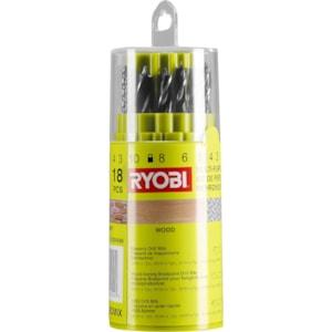 Borrsats Ryobi Mix RAK18DMIX, 18 delar
