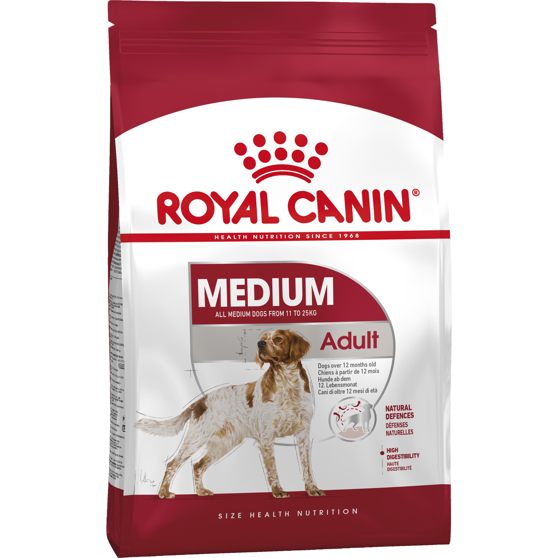 Hundfoder Royal Canin Medium Adult, 15 kg