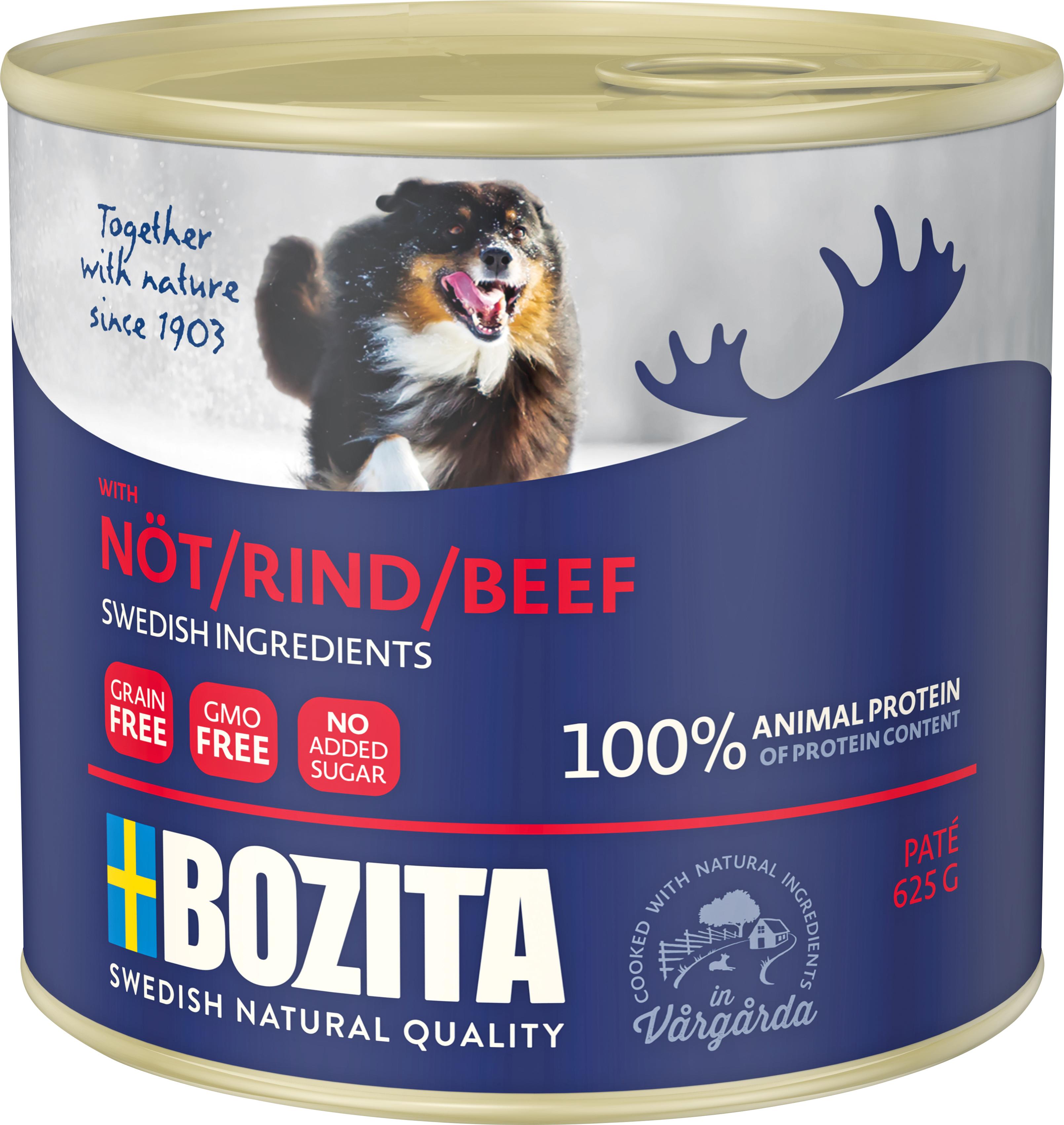 Hundfoder Bozita Nöt Konserv 625 gram