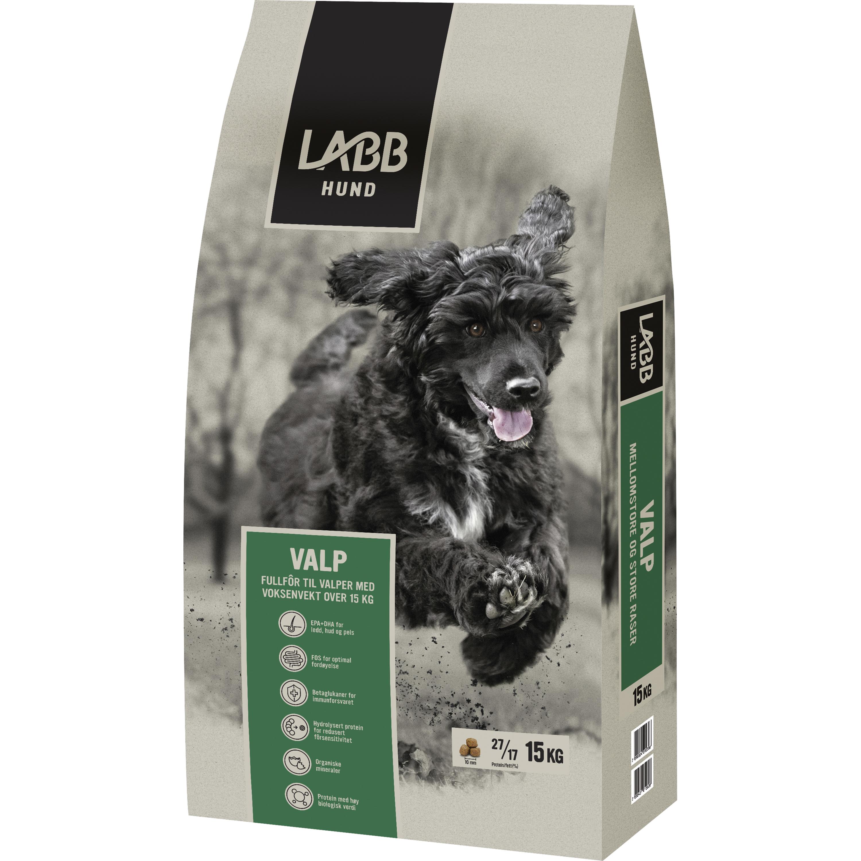 Hundfoder Labb Valp Mellanstora och Stora raser, 15 kg