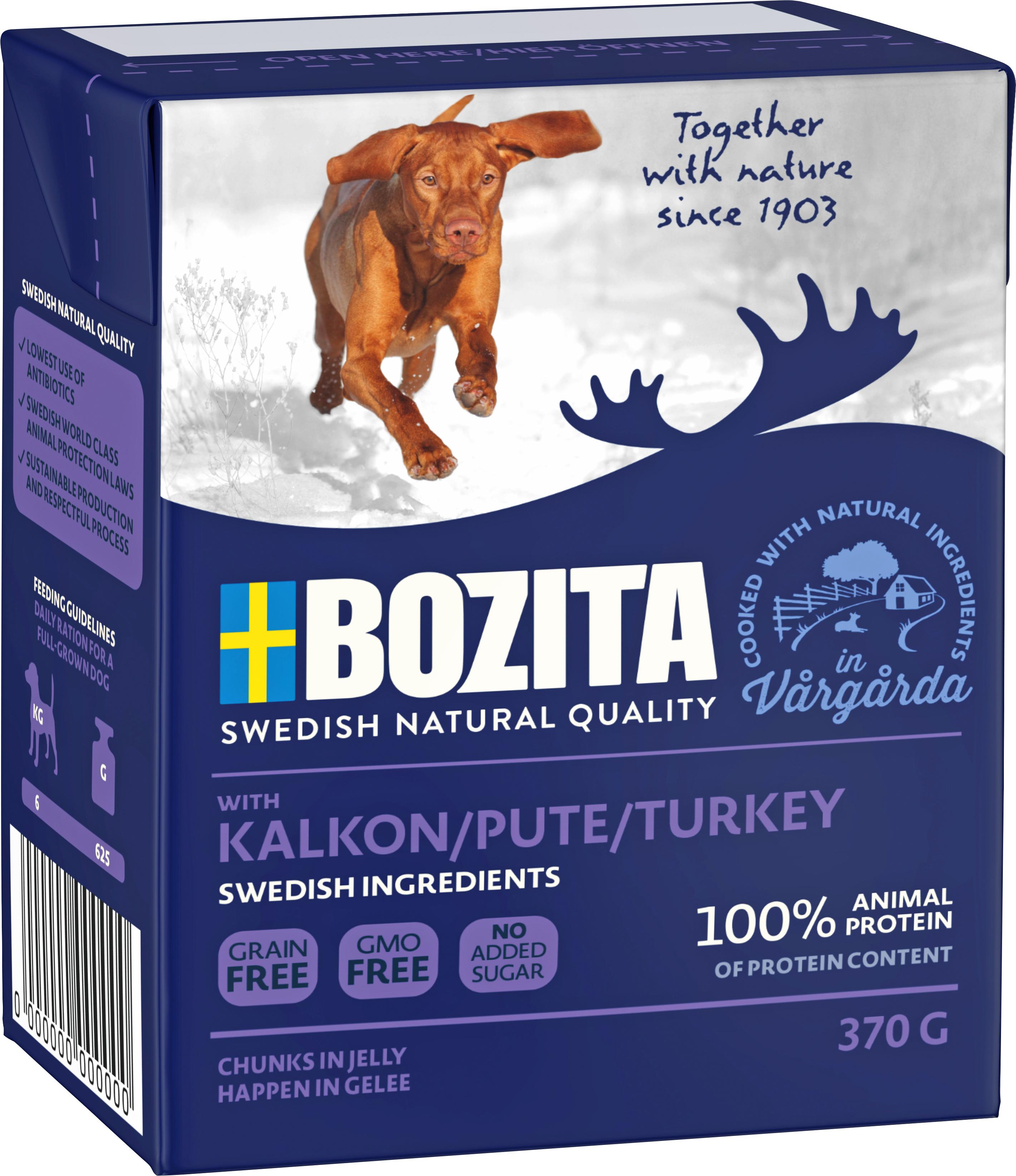 Hundfoder Bozita Tetra Recart Kalkon, 370 g