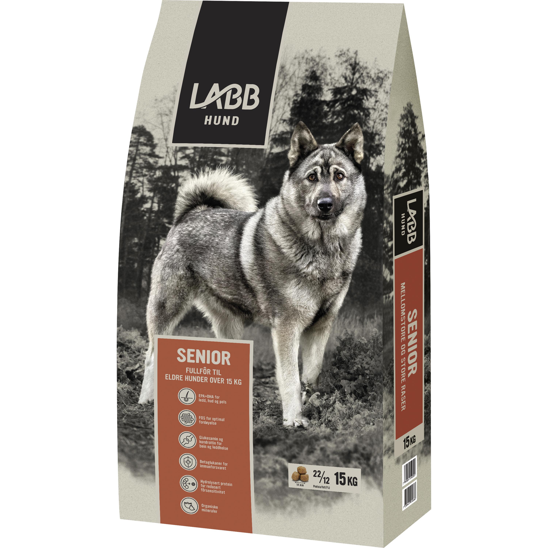Hundfoder Labb Senior Mellanstora och Stora, 15 kg