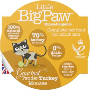 Kattmat Little Big Paw Gourmet Tender Turkey Mousse 85 g