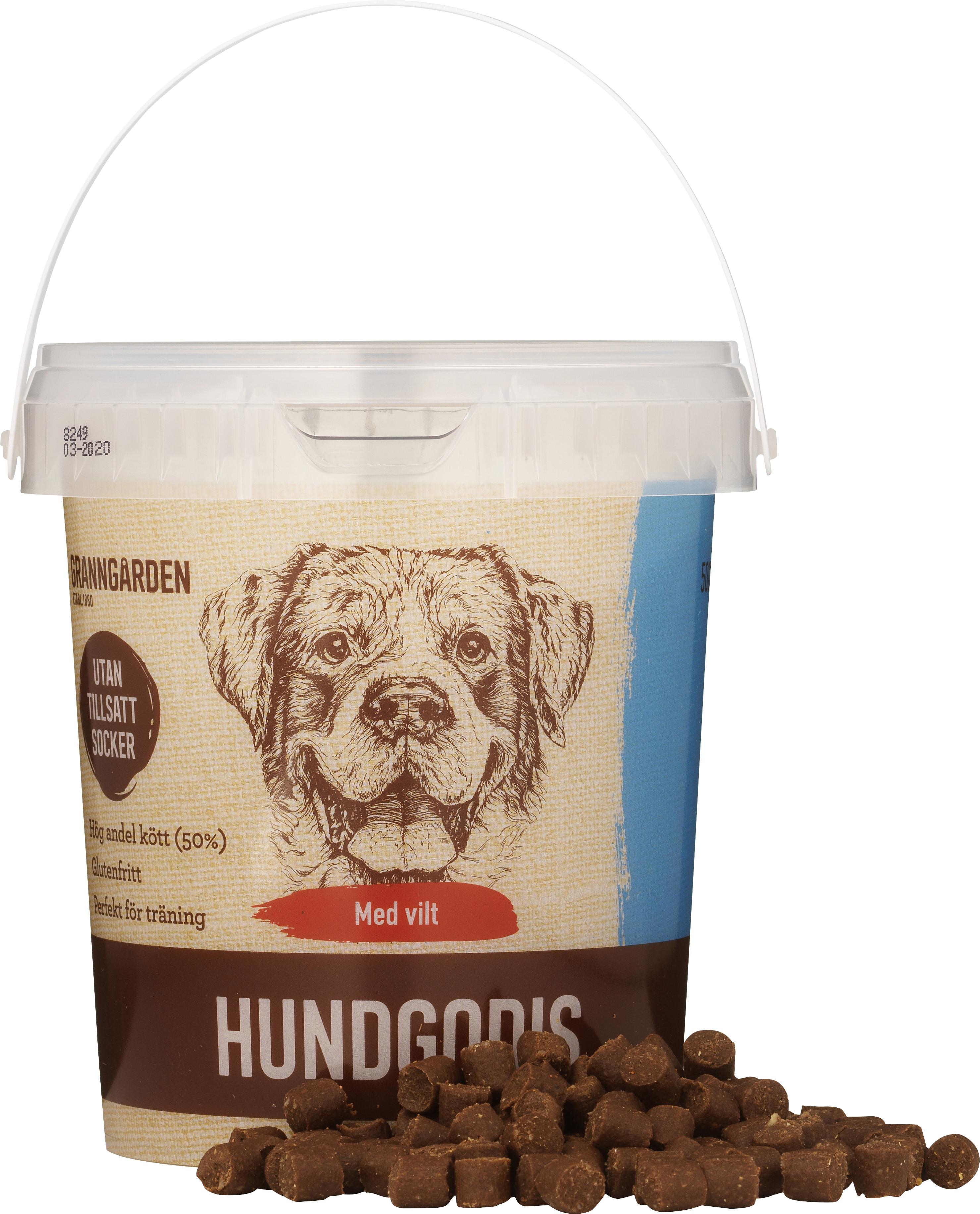 Hundgodis Granngården Glutenfri Vilt, 500 g