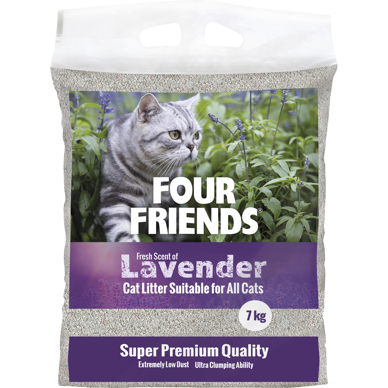 Kattsand Four Friends Lavendel, 7 kg