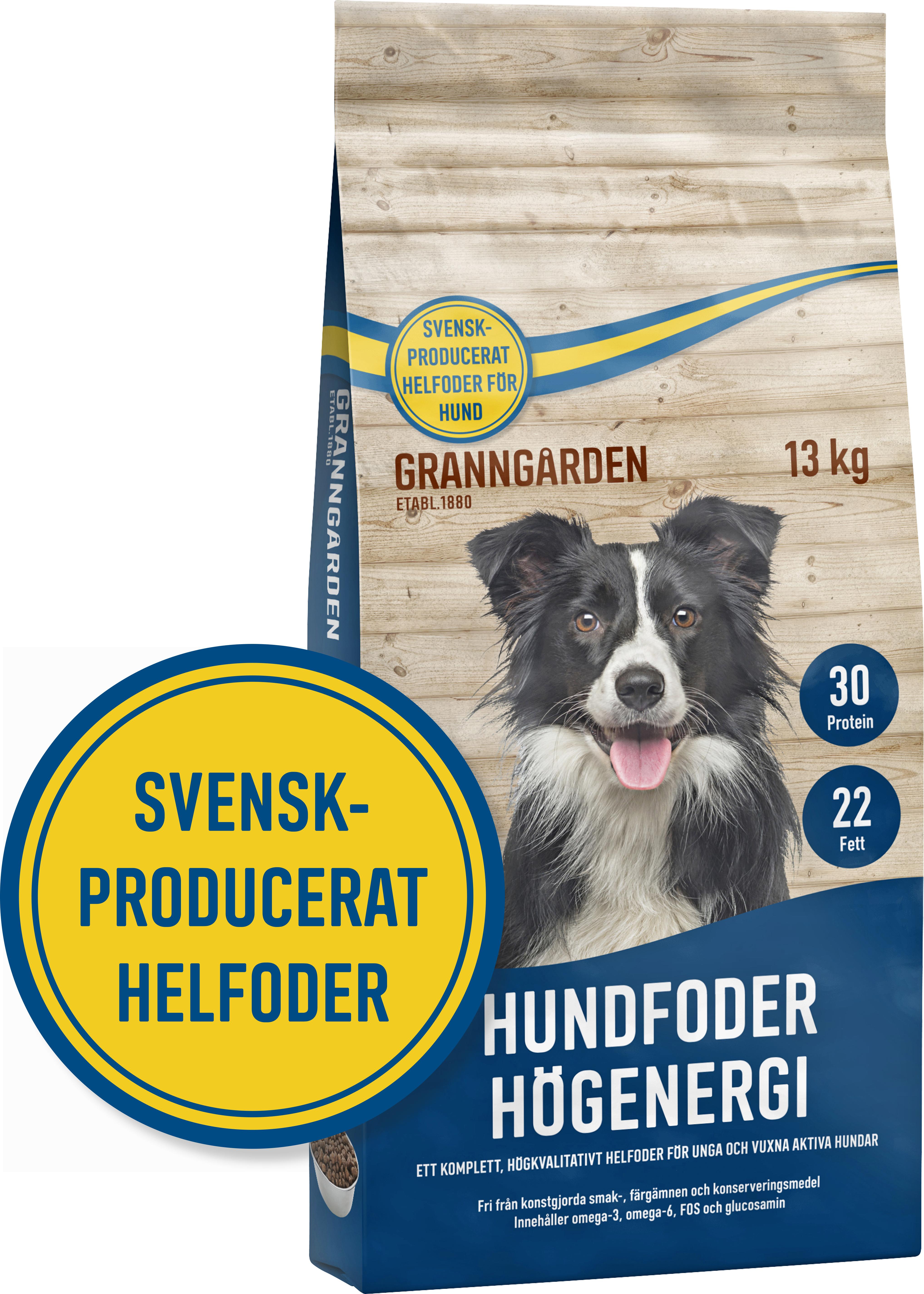 Hundfoder Granngården Högenergi, 13 kg