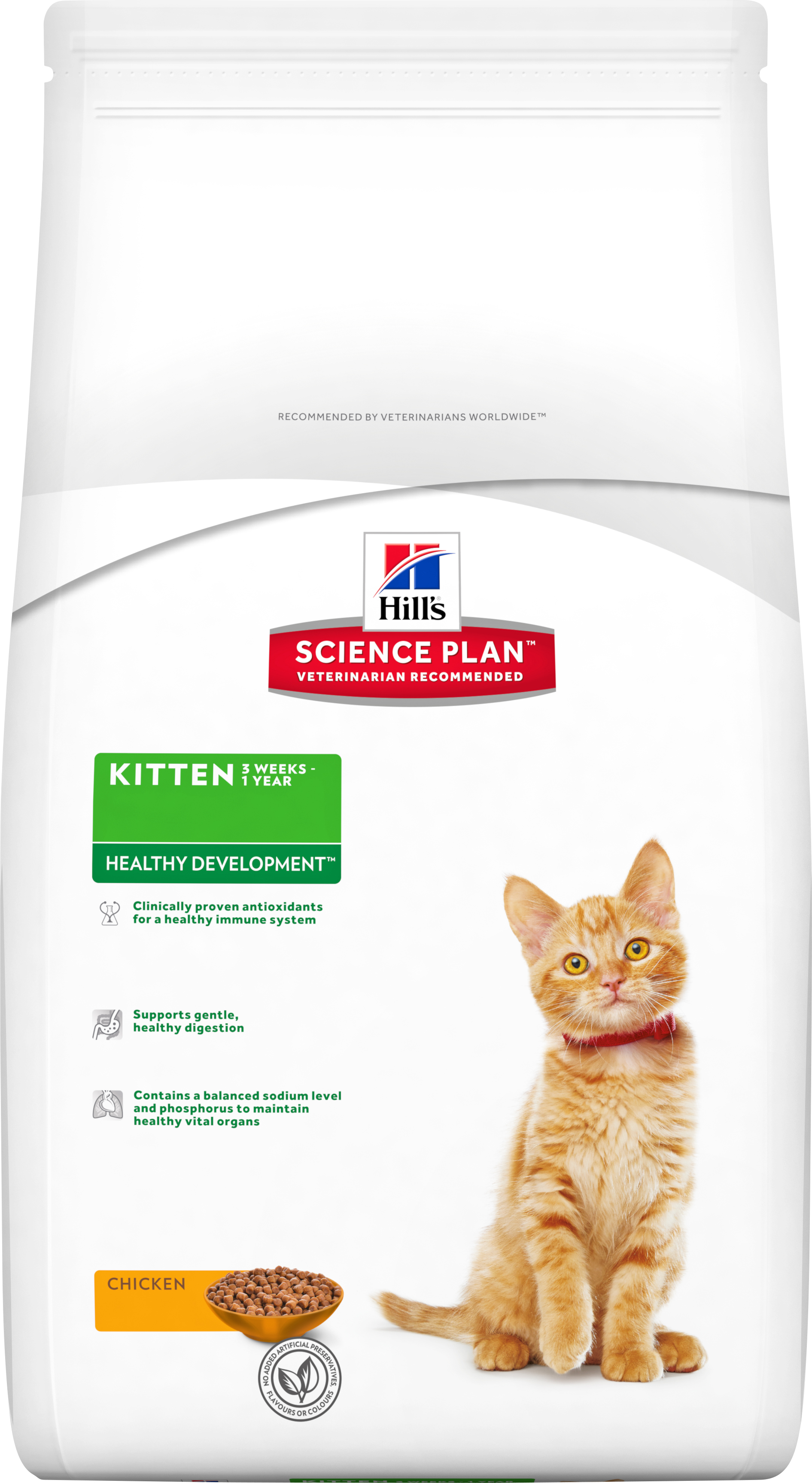 Kattmat Hills Cat Healthy Development Kitten Kyckling, 5 kg