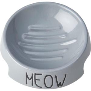 Matskål Pet Ragous Keramik Meow, Grå
