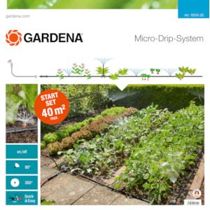 Droppslang Gardena Startset Blom-/köksträdgård 40 m²