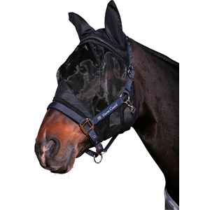 Insektsmask Horse Guard Anti-UV, Svart
