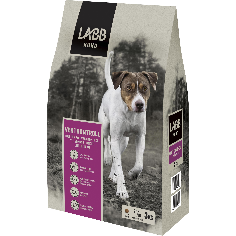 Hundfoder Labb Viktkontroll Små raser, 3 kg