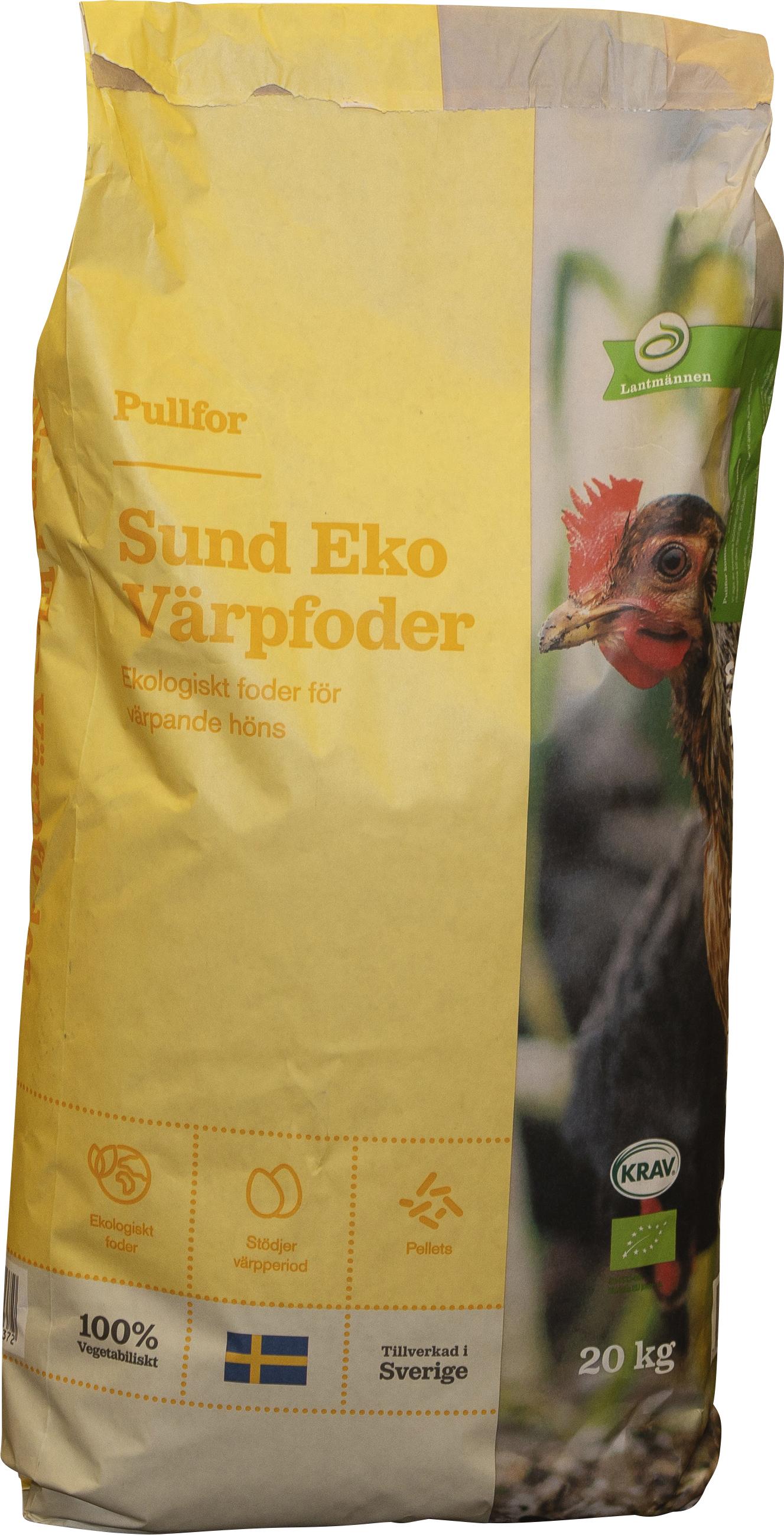 Hönsfoder Lantmännen Sund Eko Värp, 20 kg