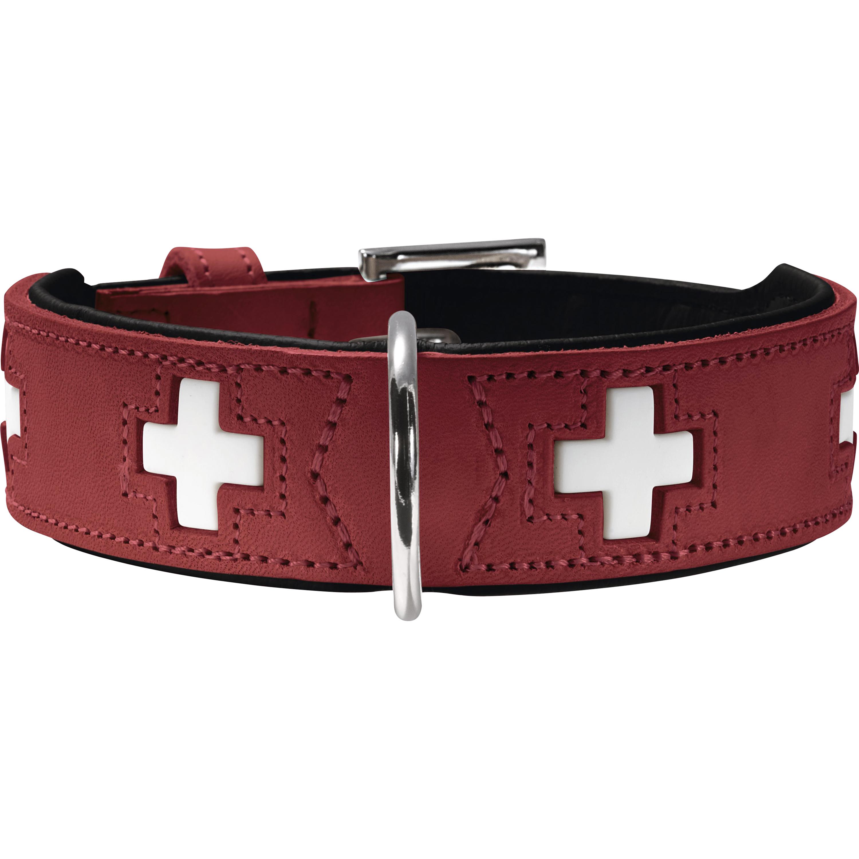 Hundhalsband Hunter Swiss, Röd 35-43