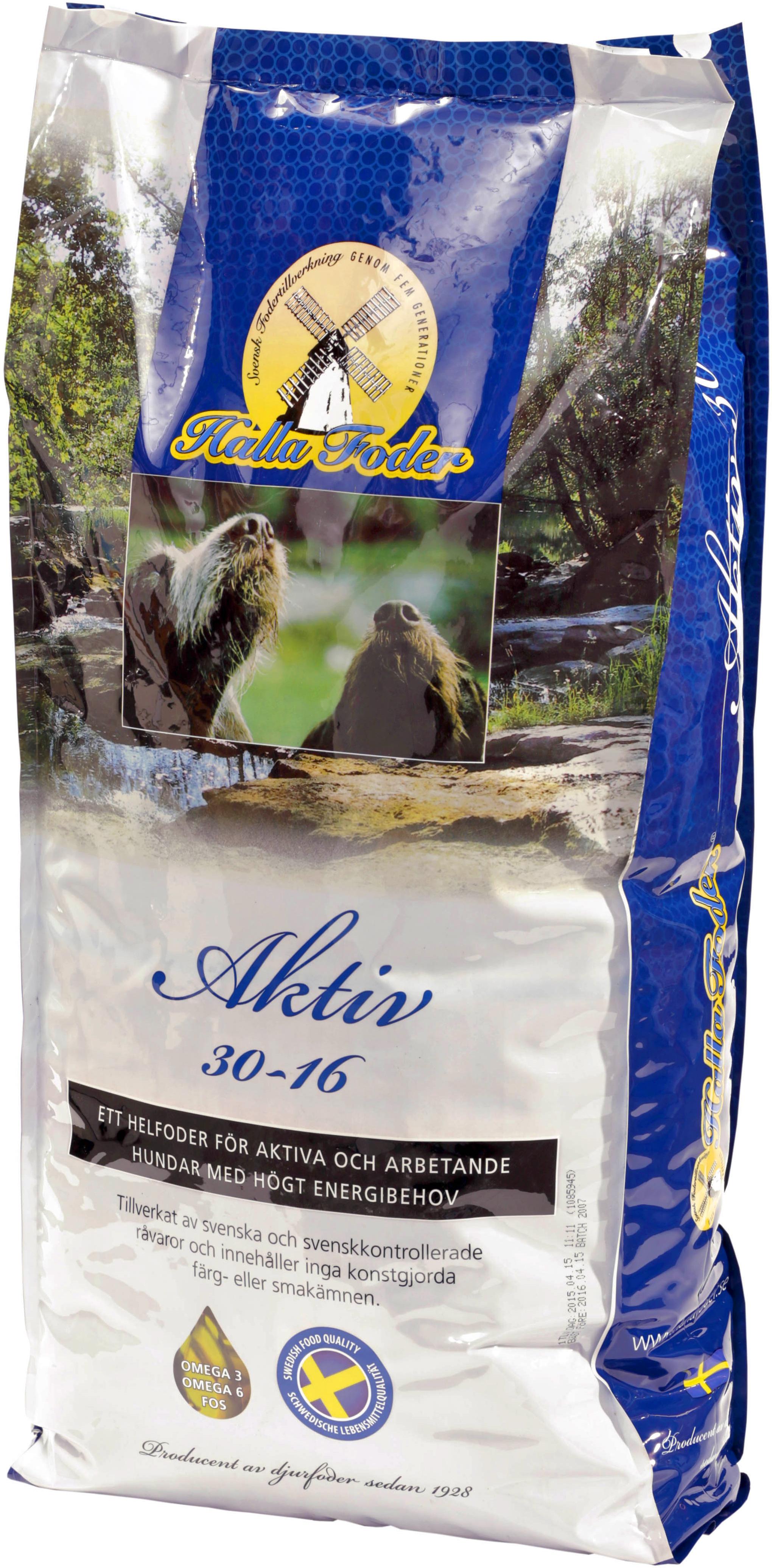 Hundfoder Halla Aktiv, 15 kg