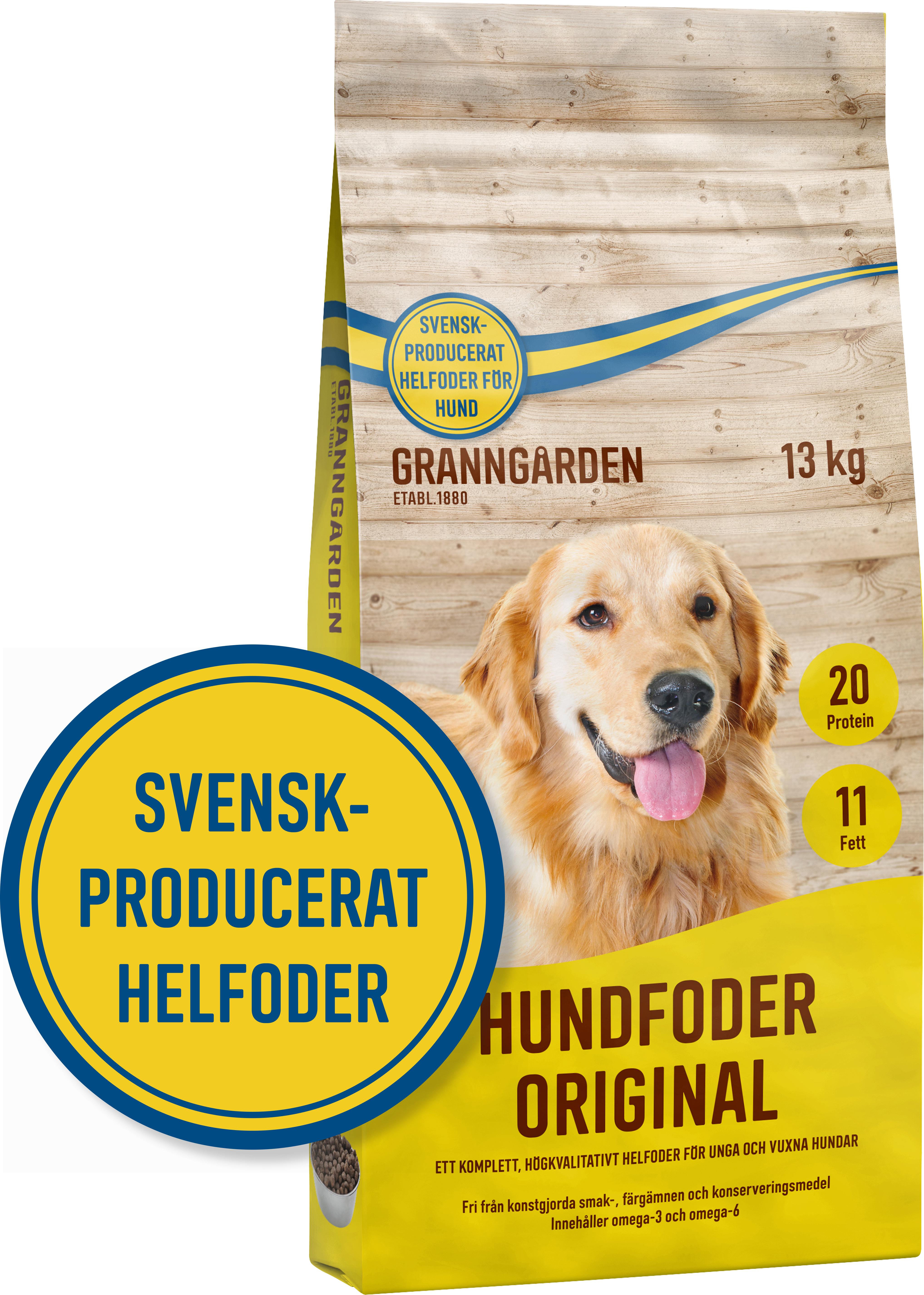 Hundfoder Granngården Original, 13 kg
