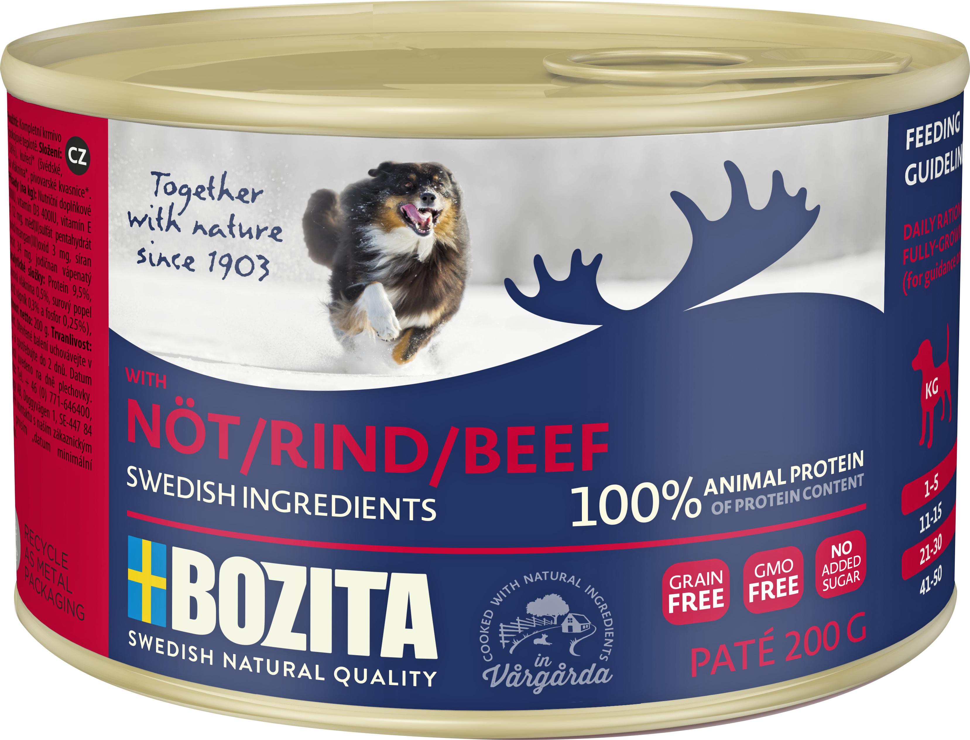 Hundfoder Bozita Nöt Konserv 200 gram